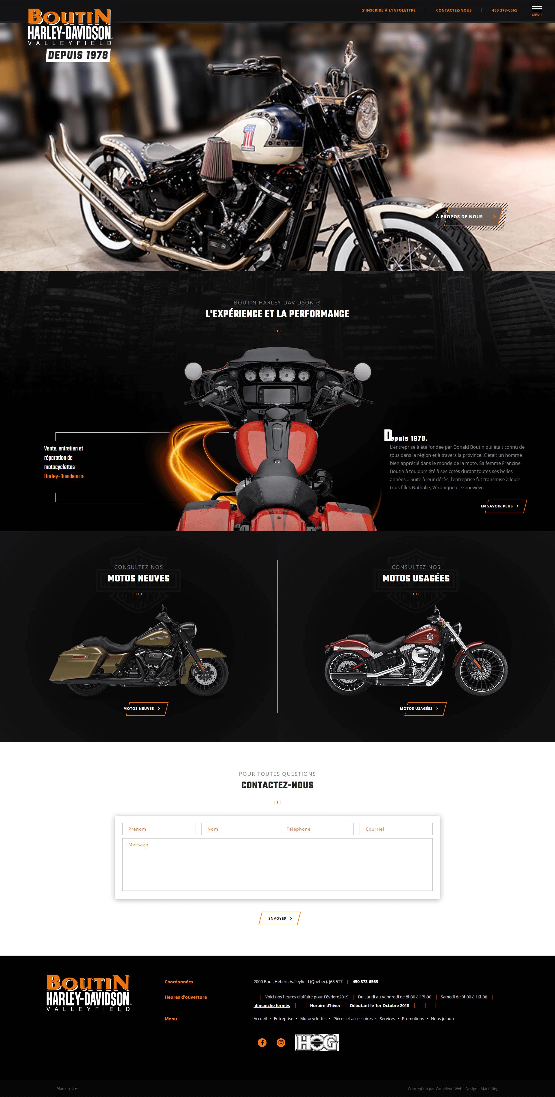 Porfolio Boutin Harley Davidson Par Cameleon Media